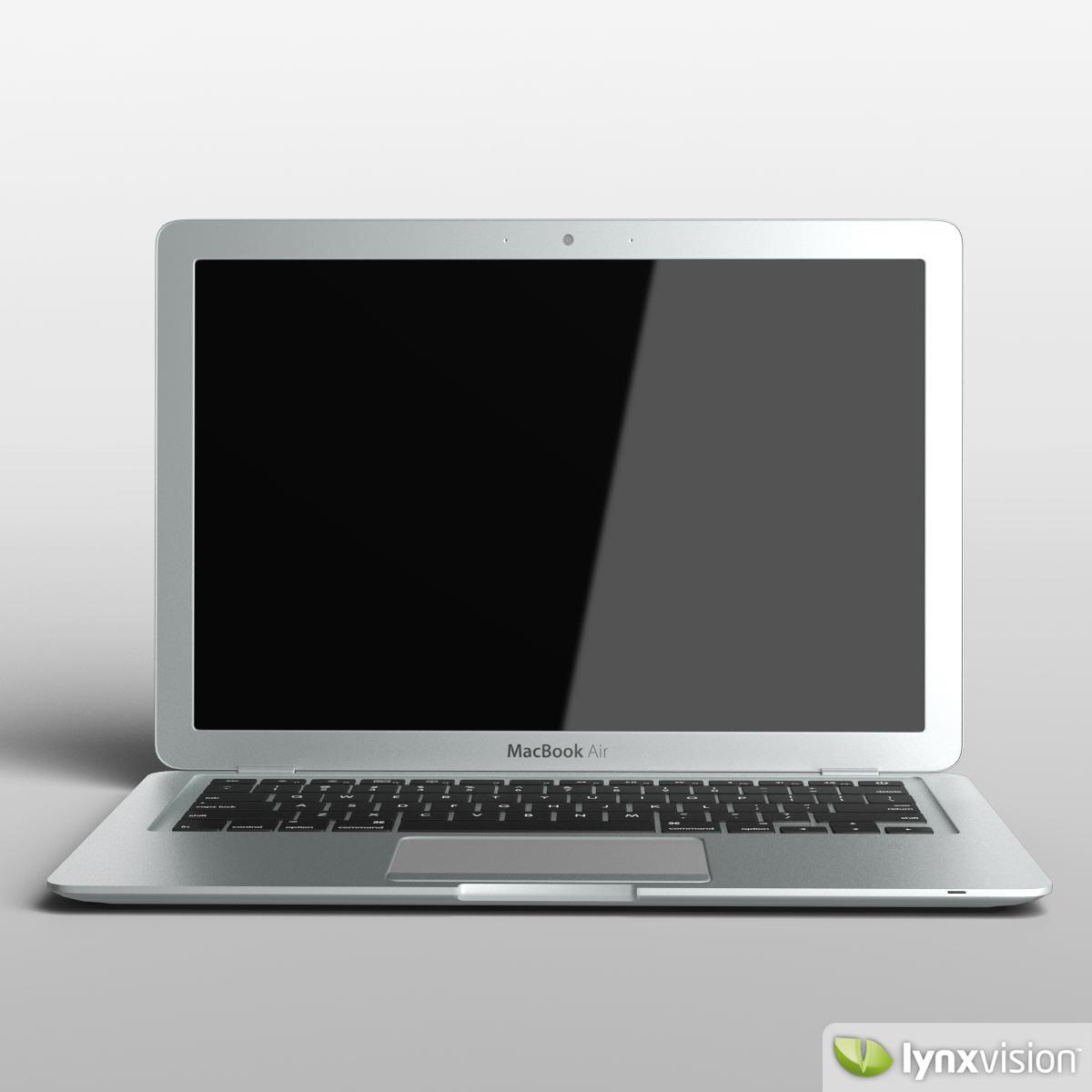 apple macbook air notebook 3d model max obj fbx mtl. Black Bedroom Furniture Sets. Home Design Ideas