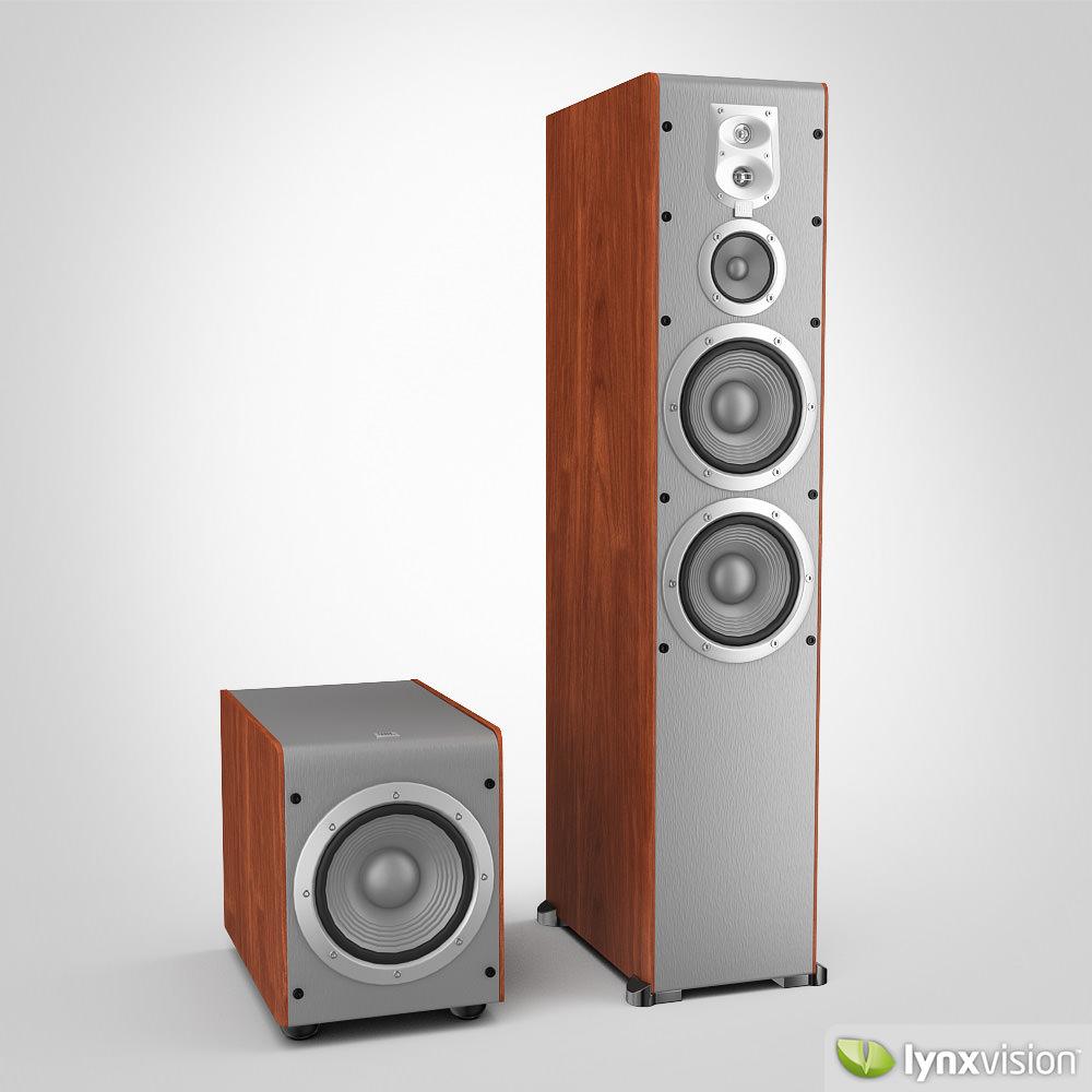 jbl speaker system 3d model max obj fbx. Black Bedroom Furniture Sets. Home Design Ideas