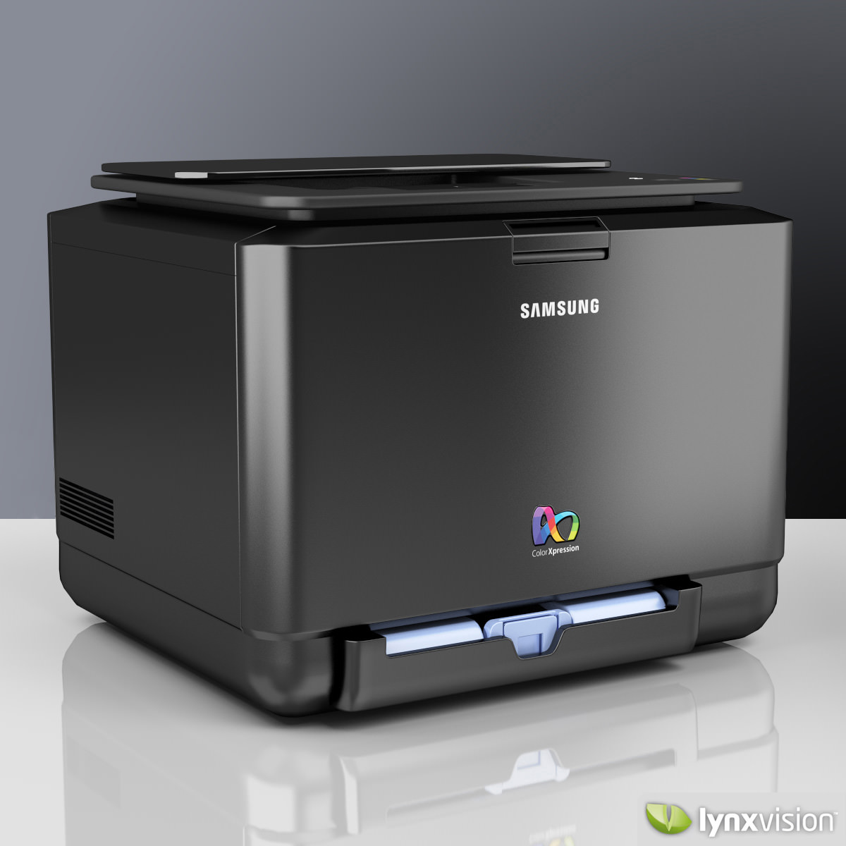 Samsung Color Laser Printer 3D Model MAX OBJ FBX