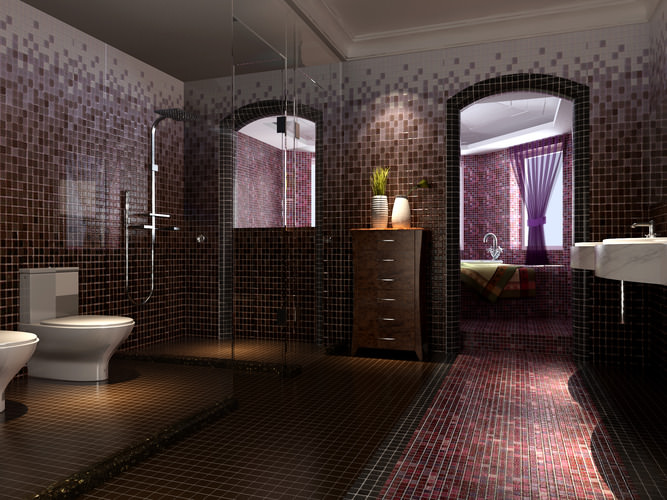 Badezimmer 3D Modelle