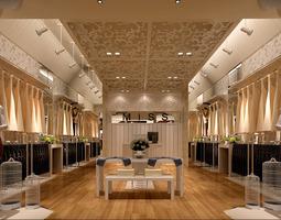 Clothes Store Interior 3D