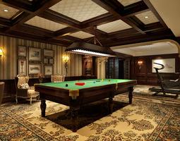 3D Billiard Room