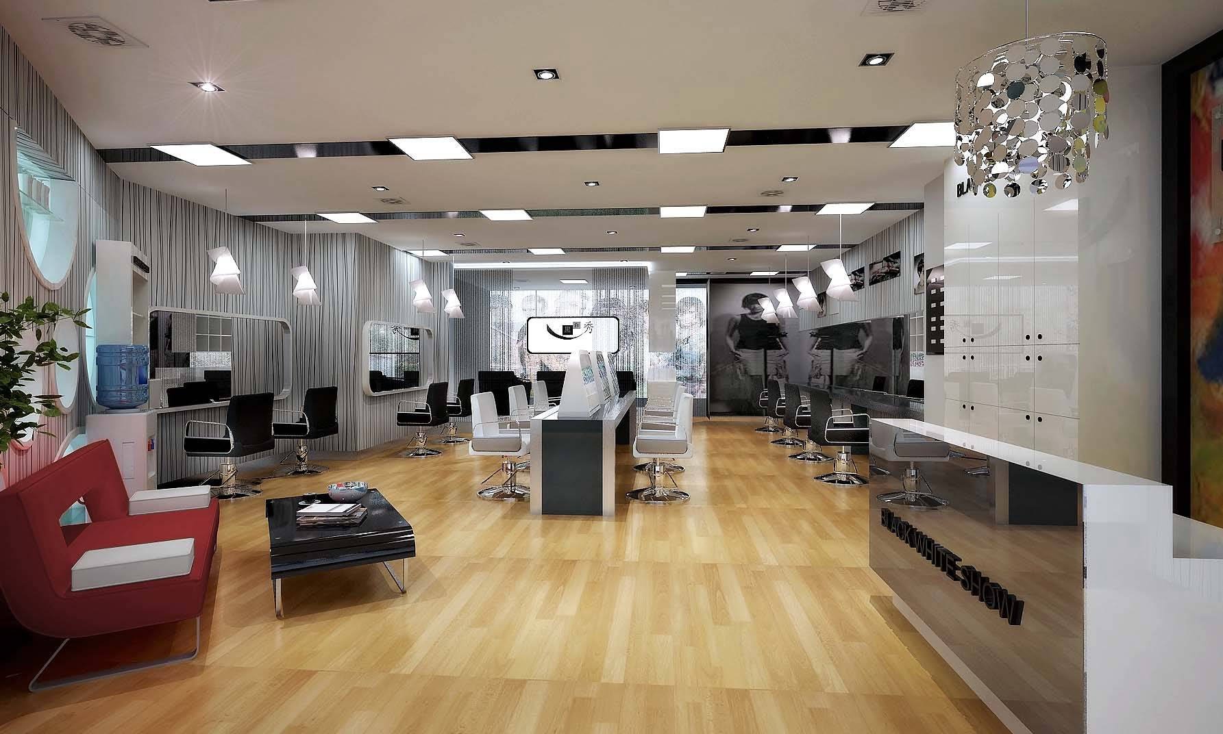 Modern Barber Interior 3D Model .max - CGTrader.