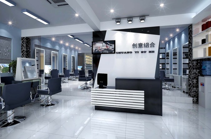 3d model modern salon interior cgtrader for 24 hour nail salon queens ny