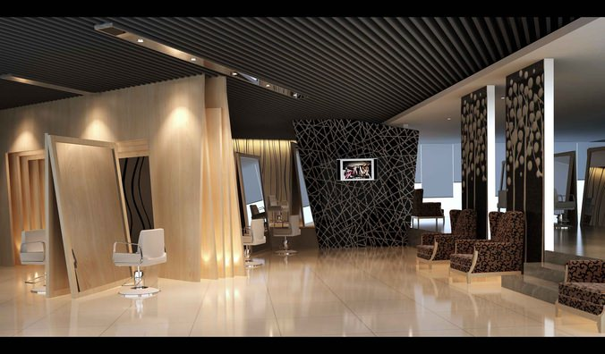 Luxurious salon interior 3d model max for Interior modeling in 3ds max