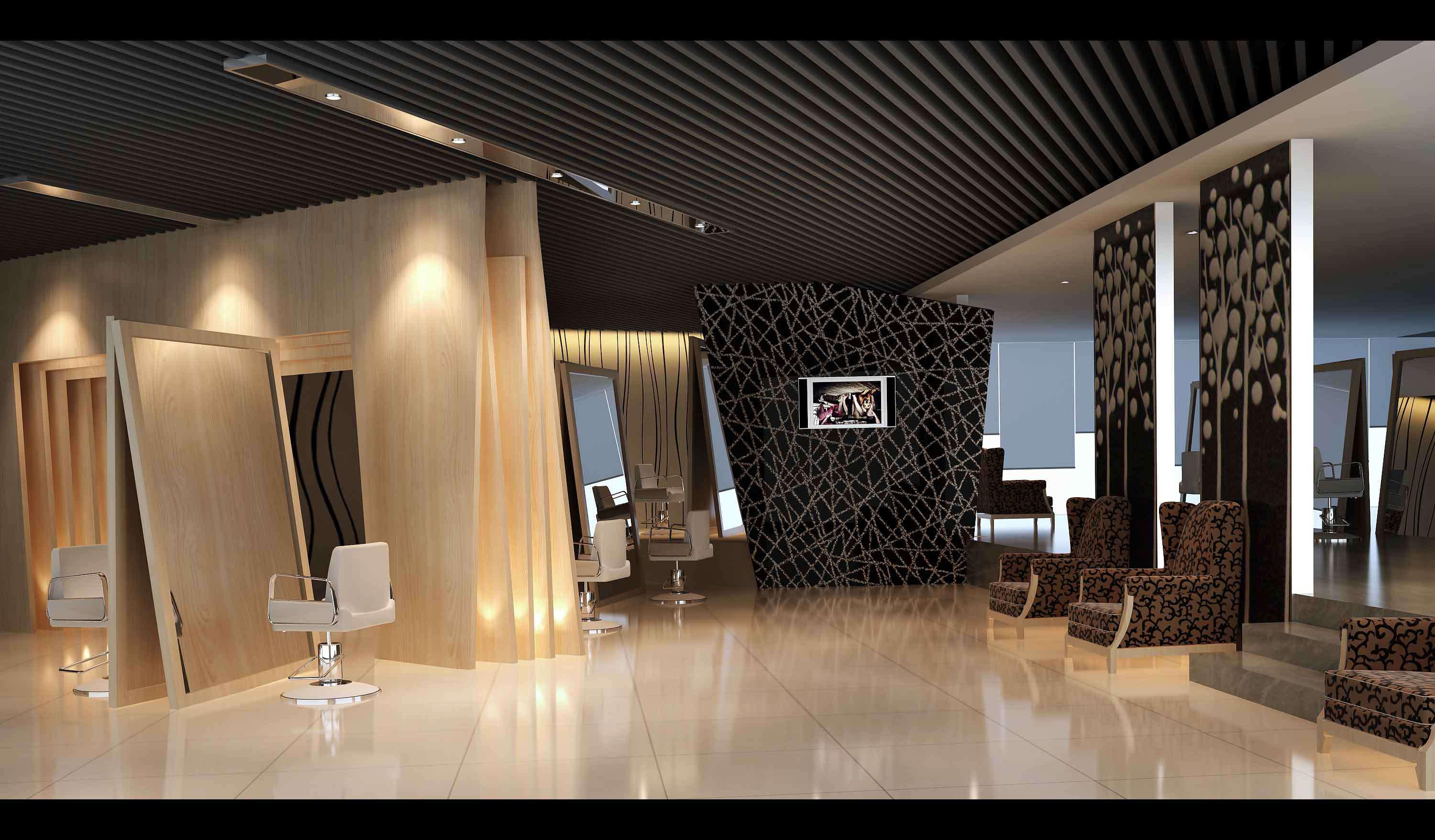 Luxurious salon interior 3d model max for 3d beauty salon games