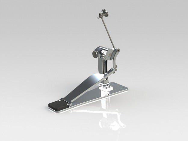 drum pedal 3d model ige igs iges 1