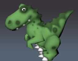 Low Poly Dino Toy Raptor 3D Model