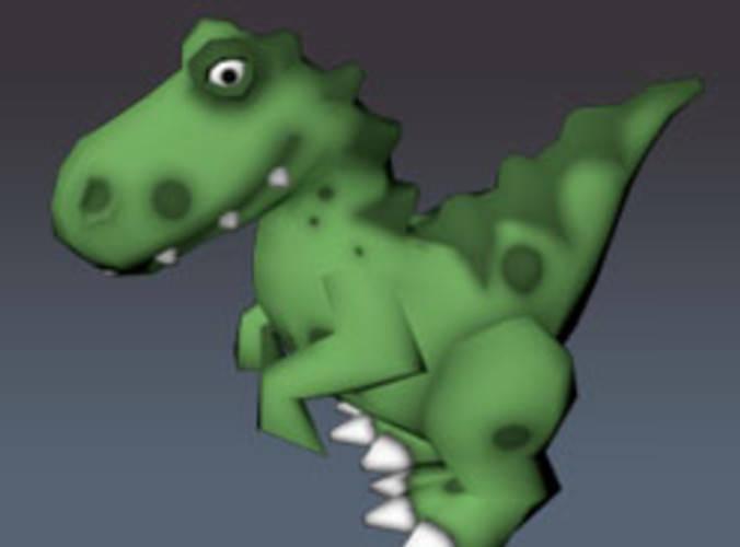 Low Poly Dino Toy Raptor3D model