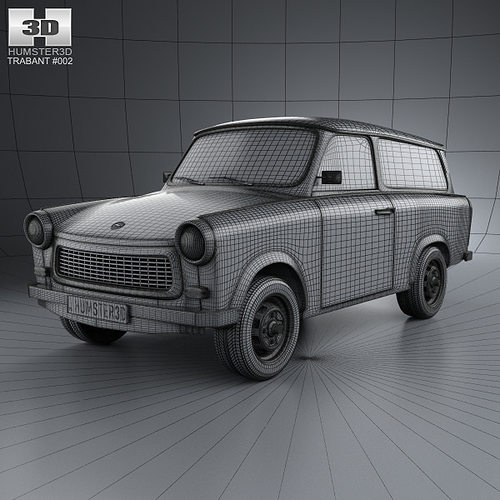 trabant 601 kombi 1965 3d model max obj 3ds fbx c4d lwo lw. Black Bedroom Furniture Sets. Home Design Ideas