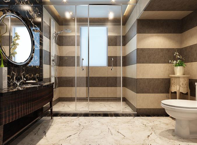 Collection modern bathroom fully furnished 3d model for New bathroom models