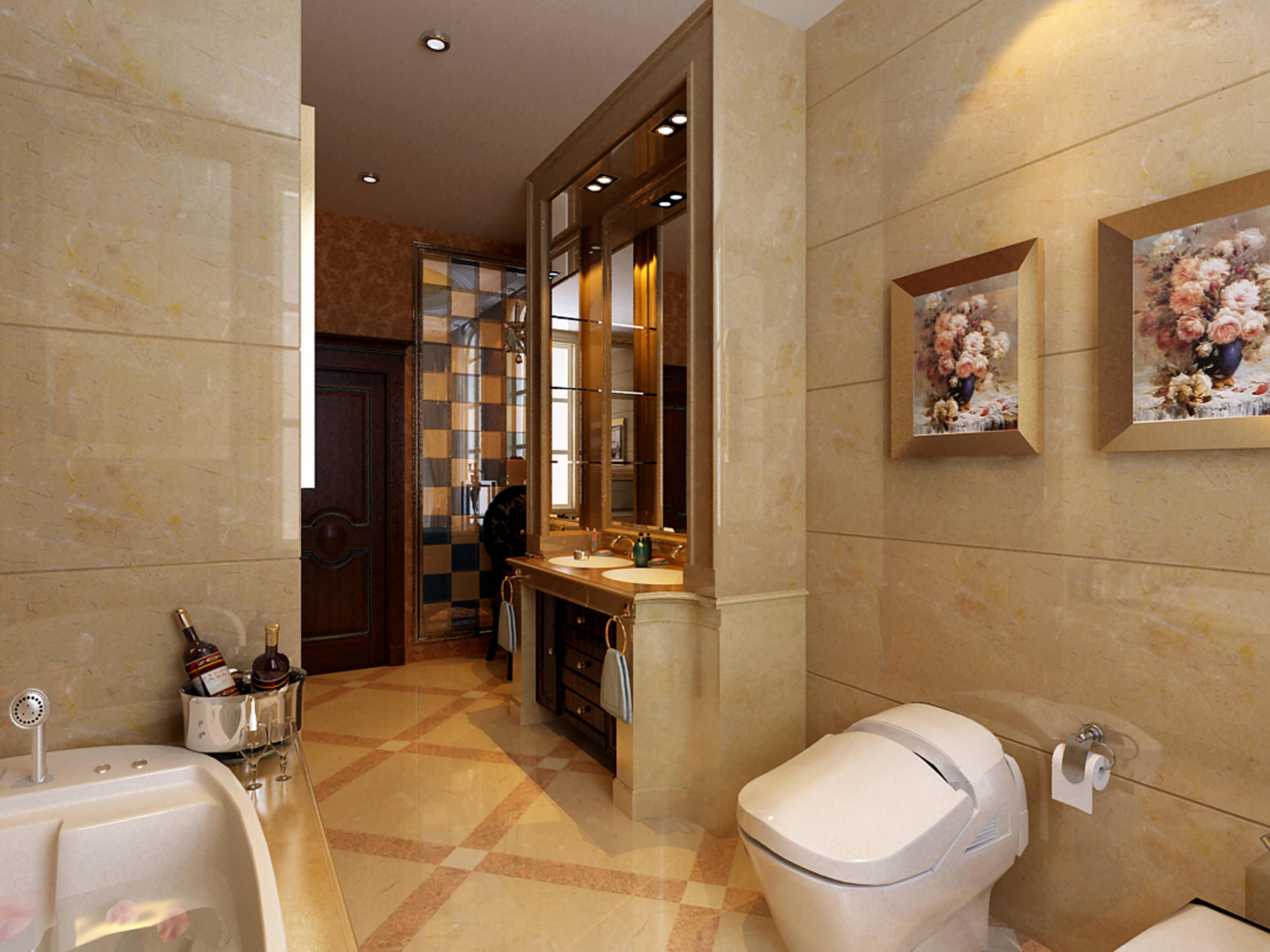 Collection modern bathroom fully furnished 3d model for New model bathroom design
