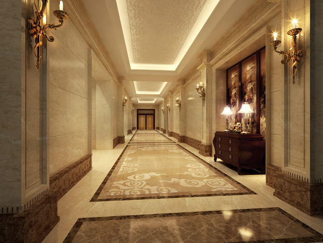 Corridor Design: Collection Modern Hotel Room Collection 3D Model .max