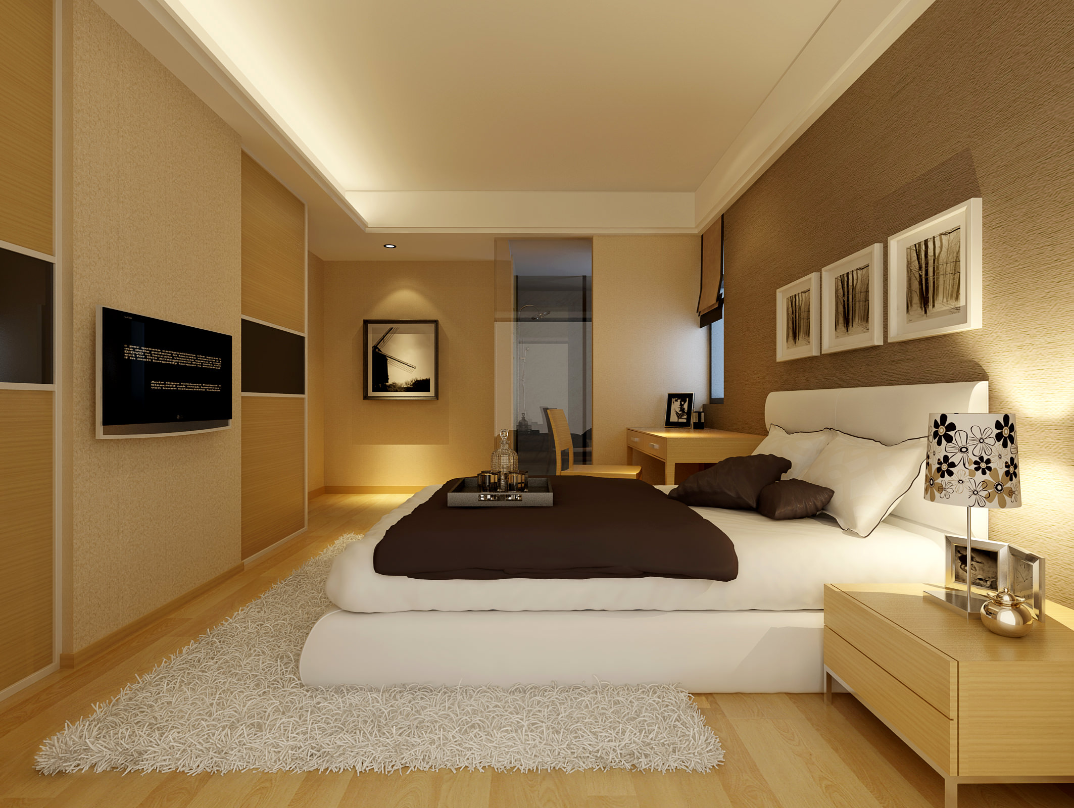Collection collection modern bedroom fully 3d model max for Stile moderno