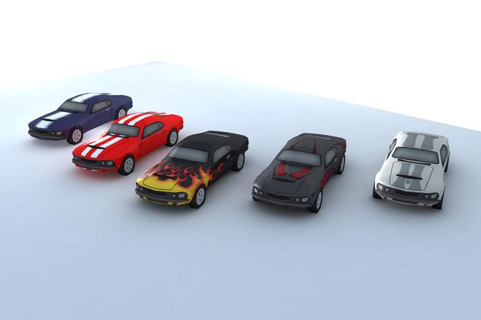 Low Poly Car3D model