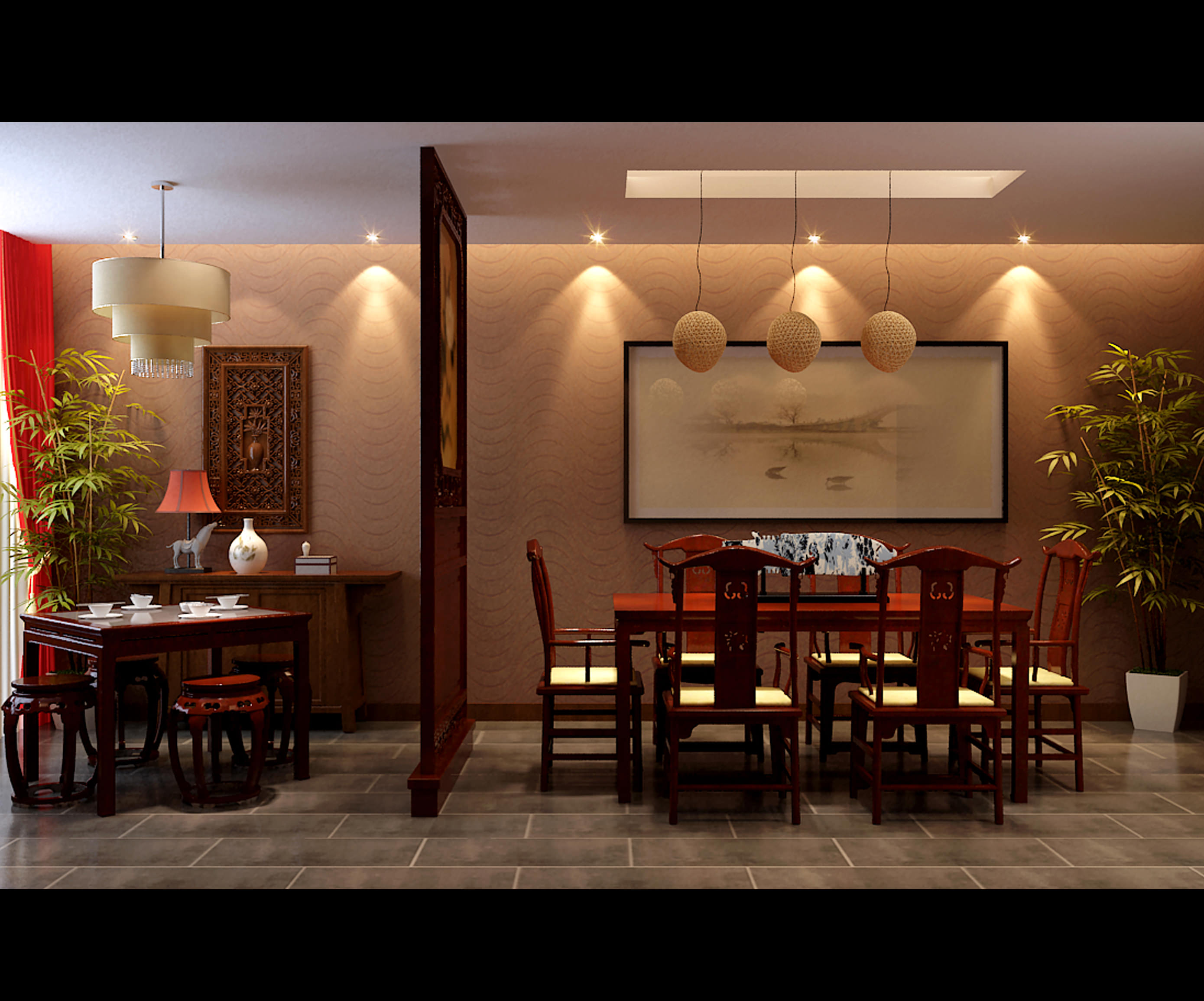... Collection Modern Dining Room Collection 3d Model Max Tga 3 ...