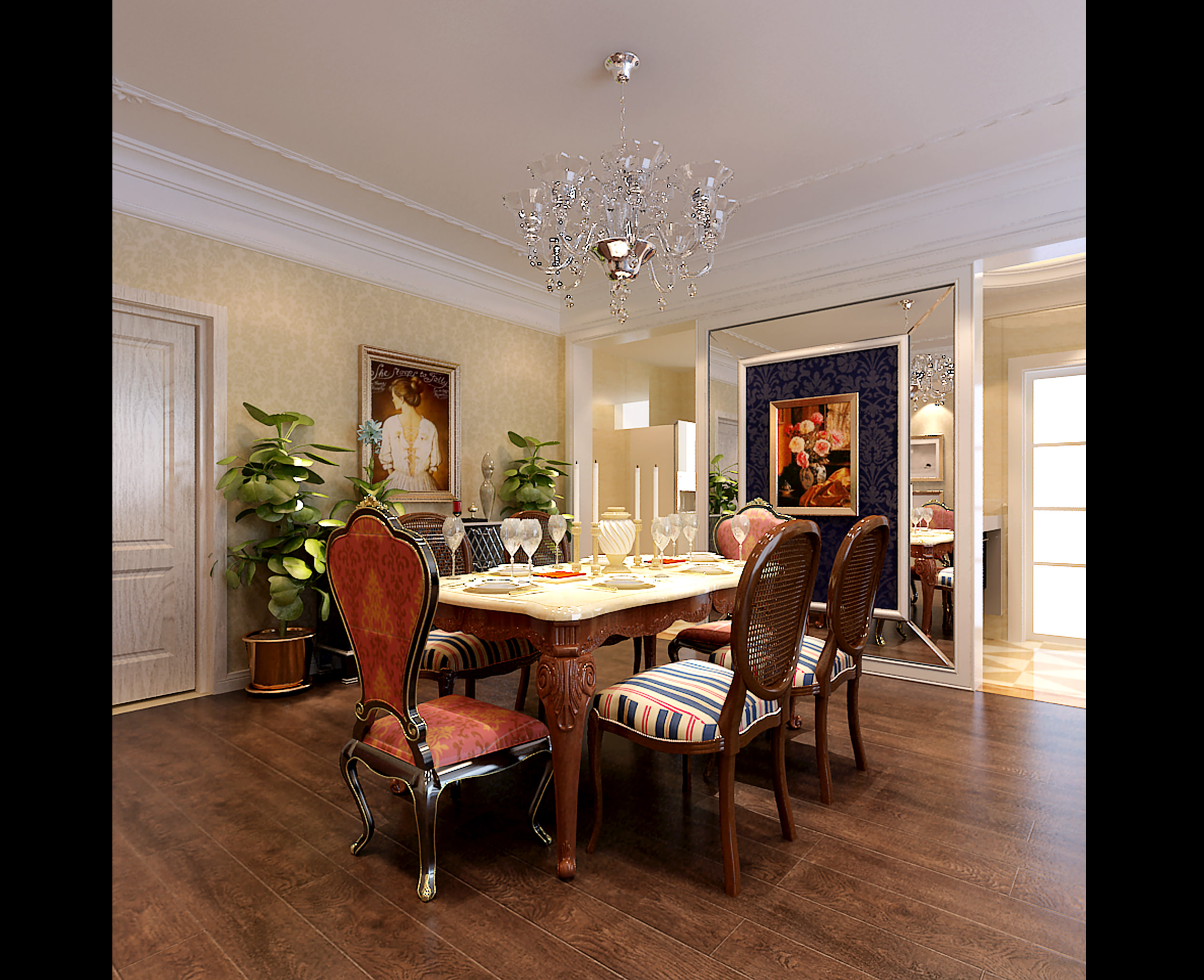 Exceptional ... Collection Luxurious Dining Room Collection 3d Model Max Tga 9 ...