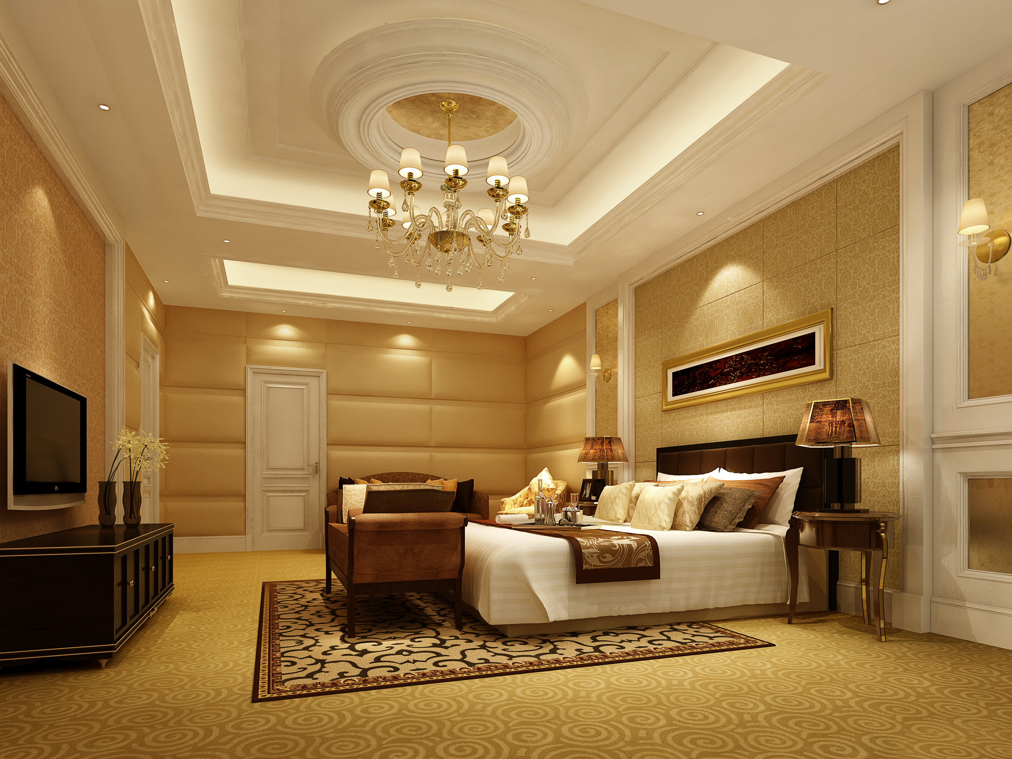 Charmant ... Collection Living Room And Bedroom Collection 3d Model Max 8 ...