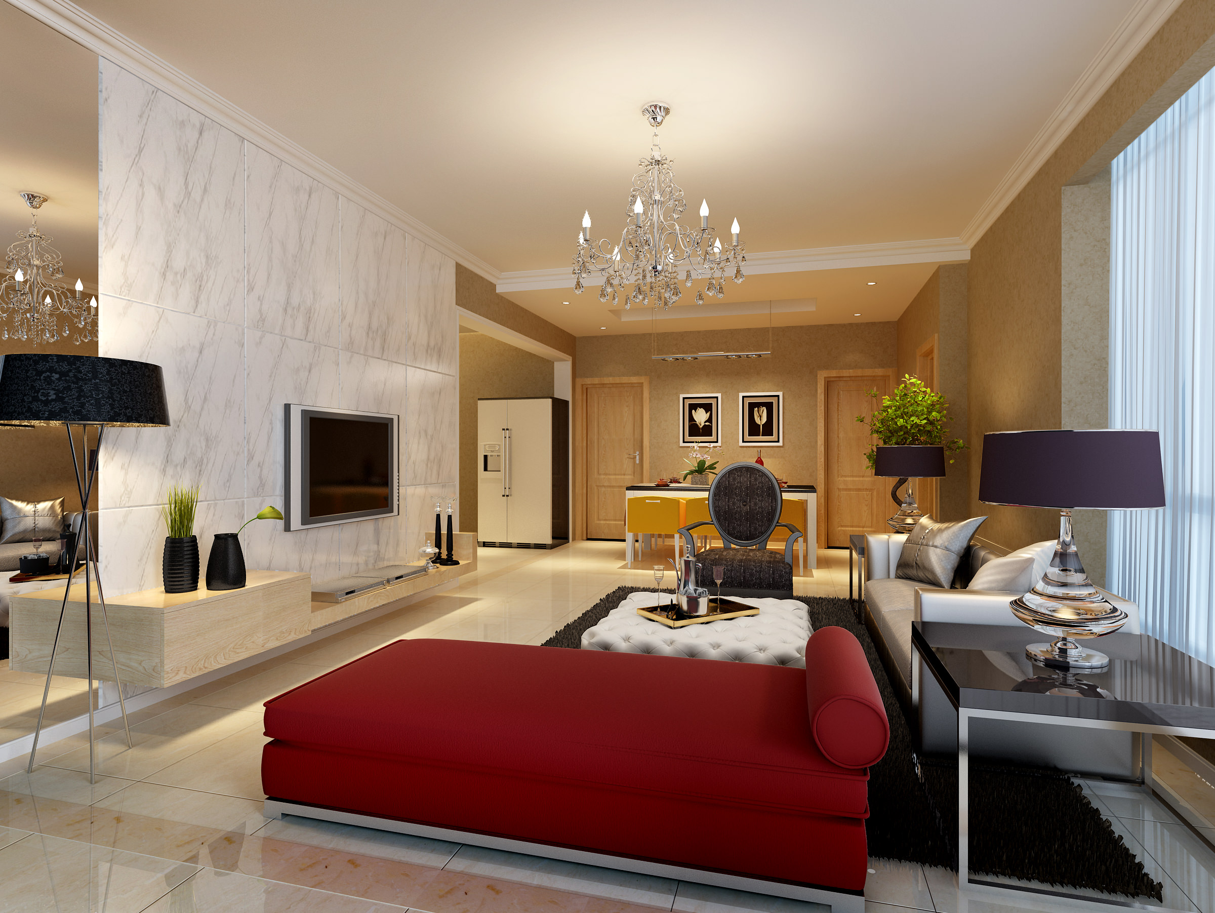 Living Room And Bedroom Collection 3D model   CGTrader