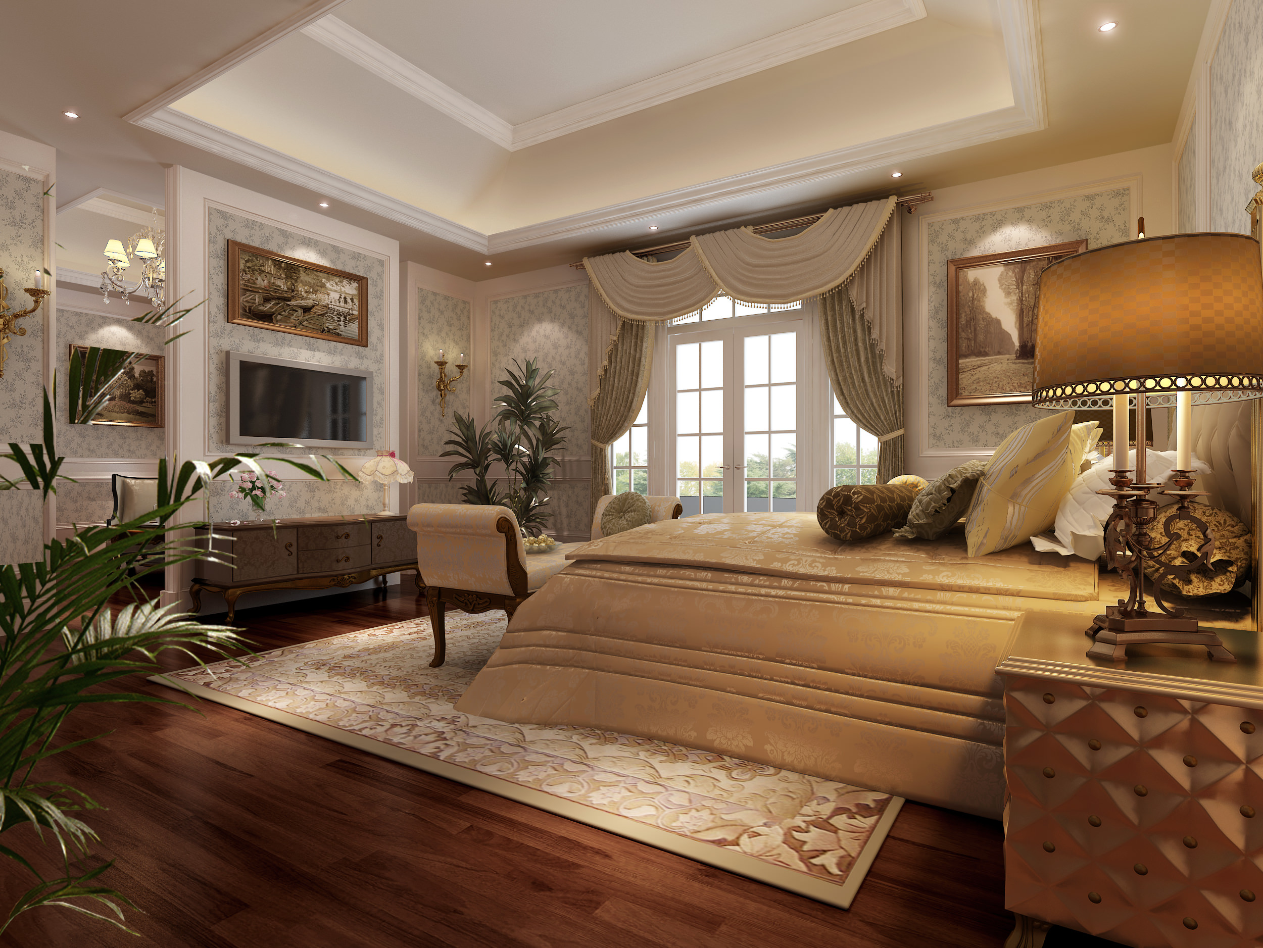 Model Bedroom living room and bedroom collection 3d model | cgtrader