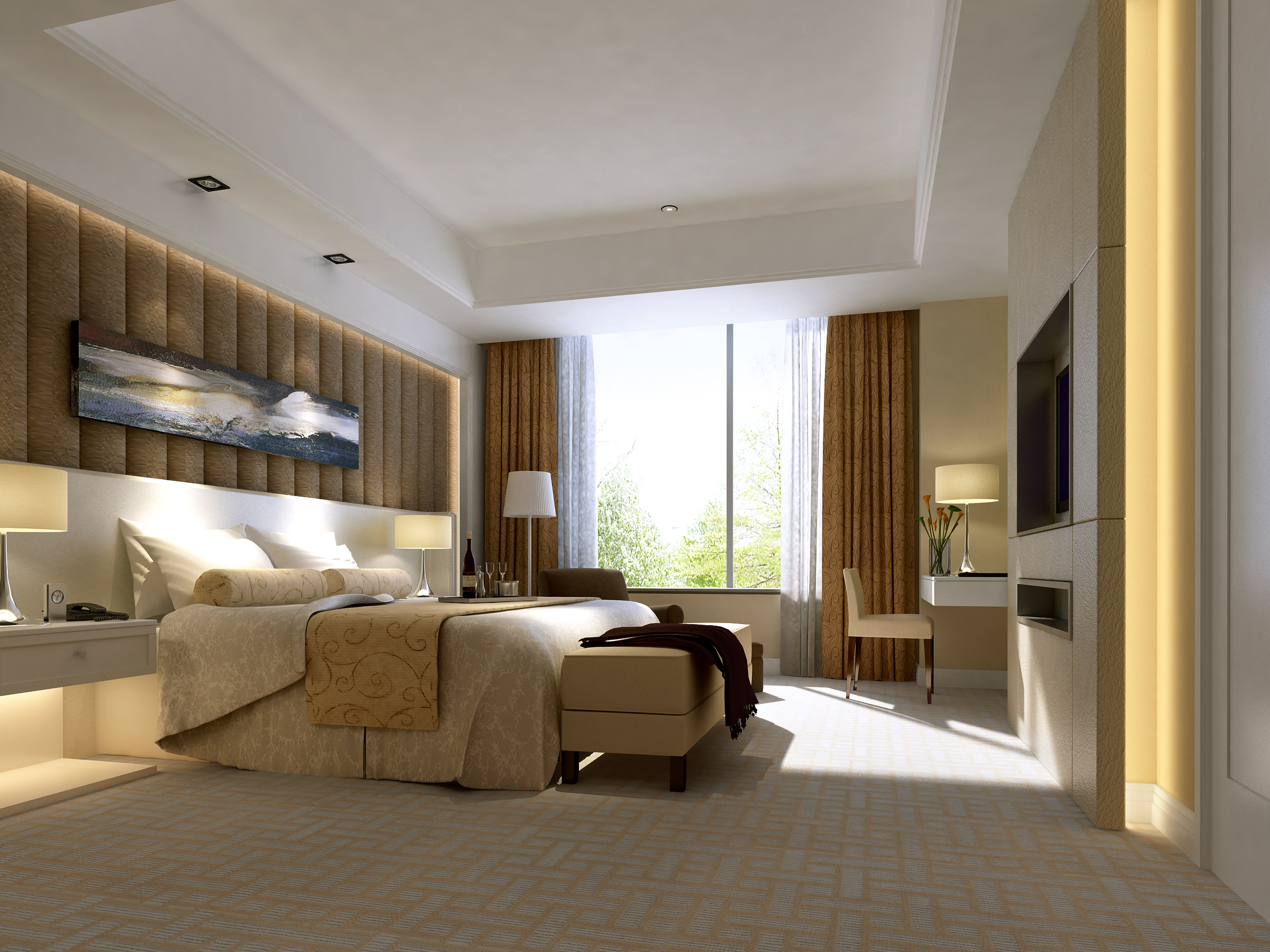 Living room and bedroom collection 16 3d model max for Model bedroom interior design