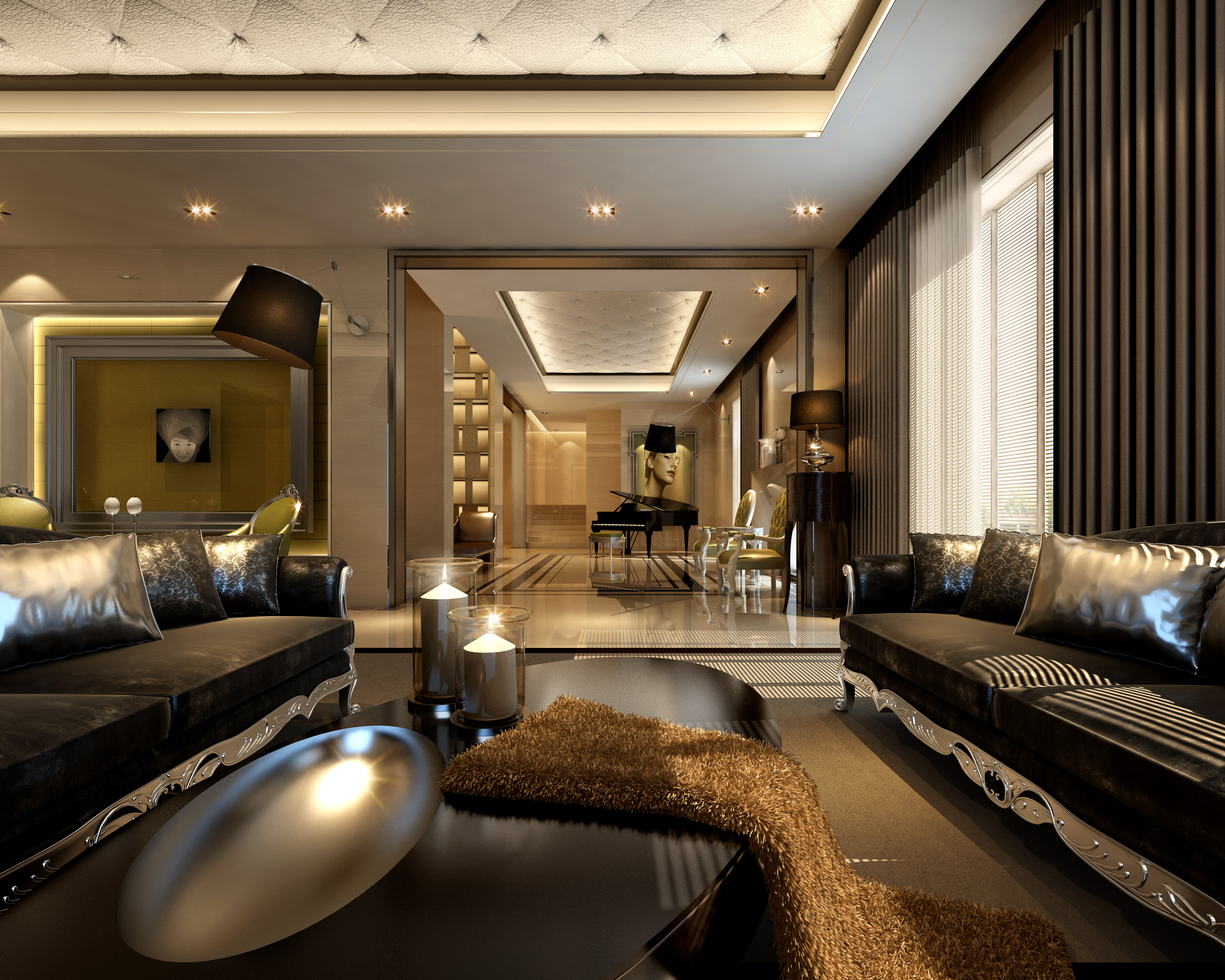 Collection living room and bedroom collection 3d model max - Elegant contemporary living rooms ...