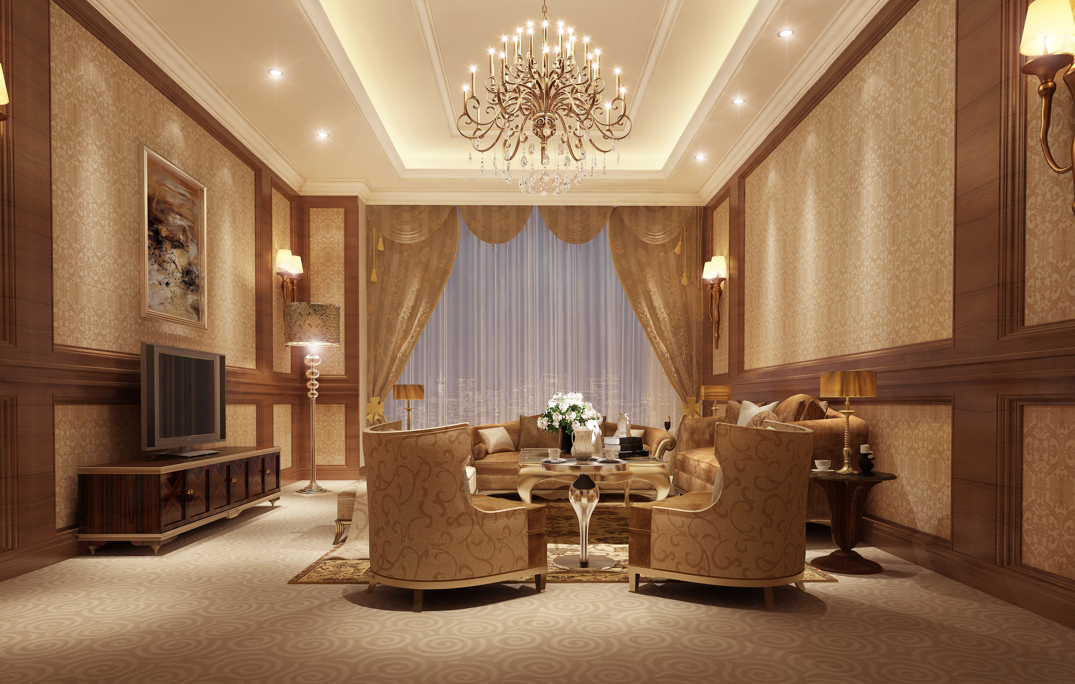 Model Living Room luxury living room and bedroom collection 3d | cgtrader