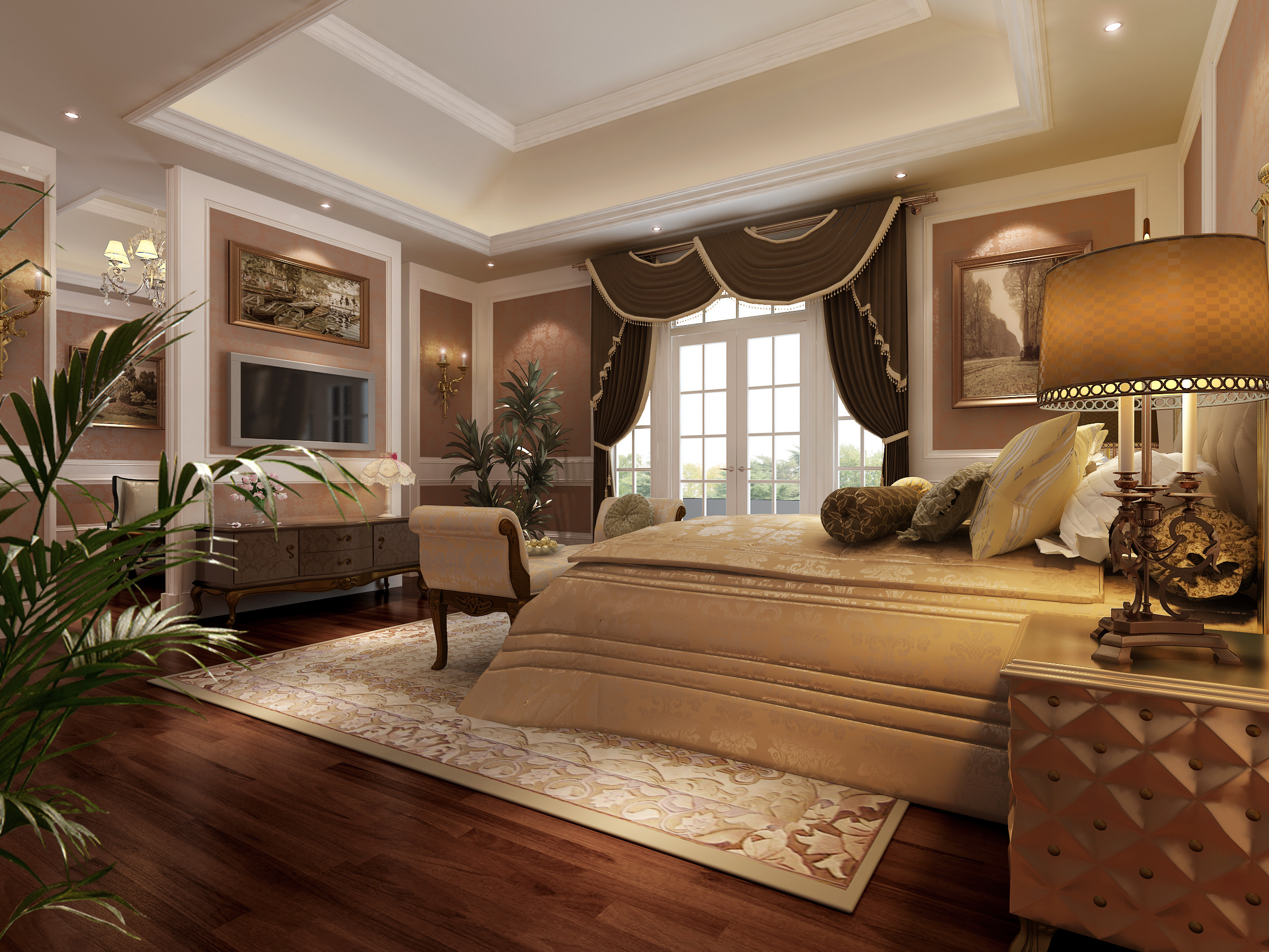 Living room and bedroom collection 13 3d model max dwg for Bedroom designs 3d model