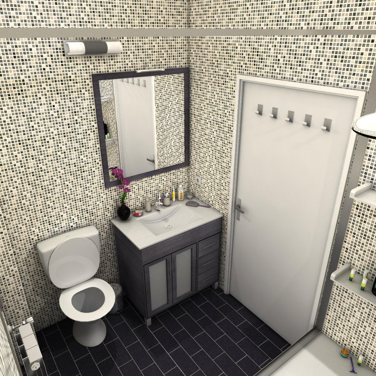 Bathroom 3d model max obj 3ds fbx c4d ma mb for 3d bathroom models