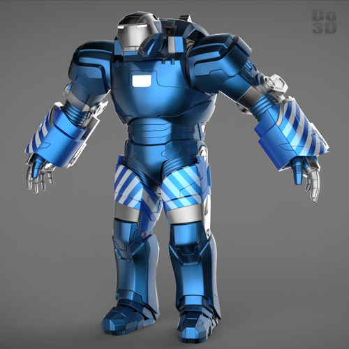 Iron man 3 suits patriot mark 17 mark 38 3d model