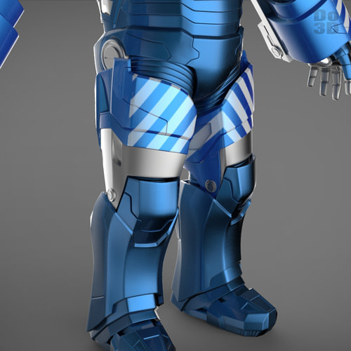 Iron man 3 suits mark 42 mark 17 mark 38 3d model