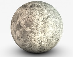 The moon 3D model low-poly