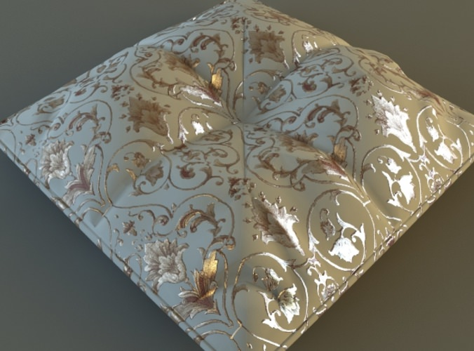 Brocade Pillow Low Poly3D model