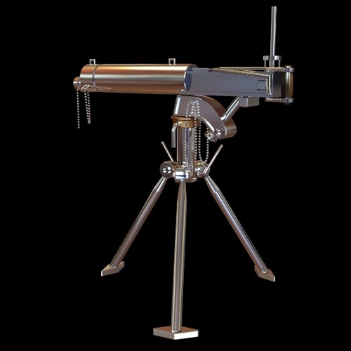 Detailed Telescope on Tripod Stand3D model