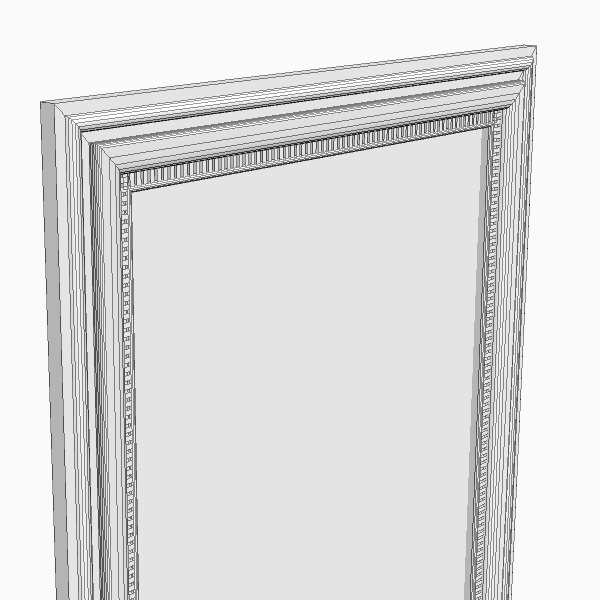 Rectangular Wall Mirror rectangular wall mirror 3d model max obj 3ds fbx mtl