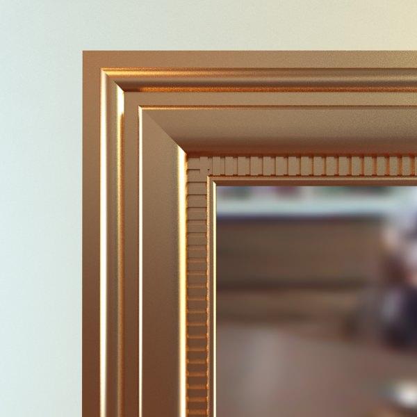 Rectangular wall mirror 3d model max obj 3ds fbx for Mirror 3d model