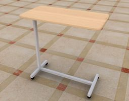Hospital Table 3D asset