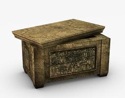 3D asset Egyptian stone ark
