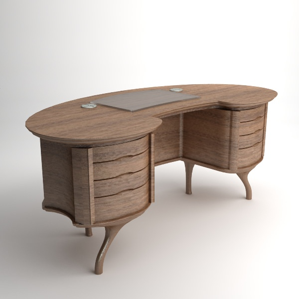 Bean Desk Model Max Obj S Fbx Mtl 1