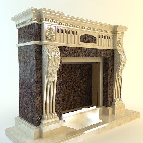 Traditional Style Fireplace 3D   CGTrader