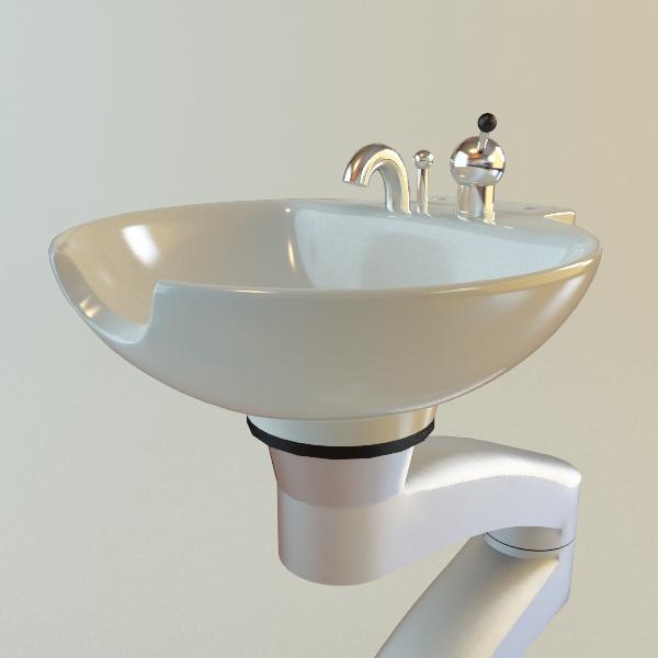 Hair Salon Shampoo Sink 3d Model Max Obj 3ds Fbx