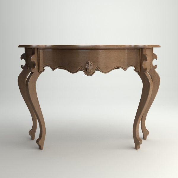 Wooden Console Table 3D Model