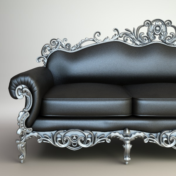 Baroque style sofa ornate baroque sofa model cgtrader for Baroque furniture reproductions
