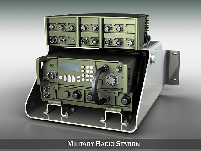 vhf military radio station 3d model obj mtl 3ds fbx c4d lwo lw lws 1
