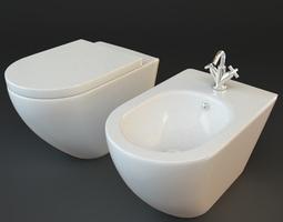 3D model Toilet Bidet 43441