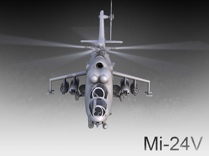 mi-24v 3d model max fbx 1