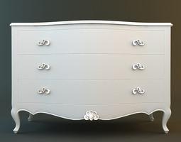White Dresser 3D Model