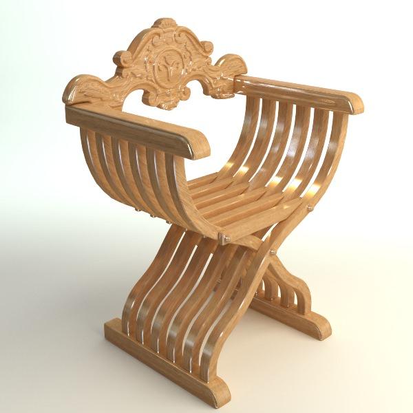 savonarola x chair photorealistic 3d model max obj 3ds fbx mtl unitypackage 1 ...  sc 1 st  CGTrader & 3D Savonarola X Chair Photorealistic | CGTrader