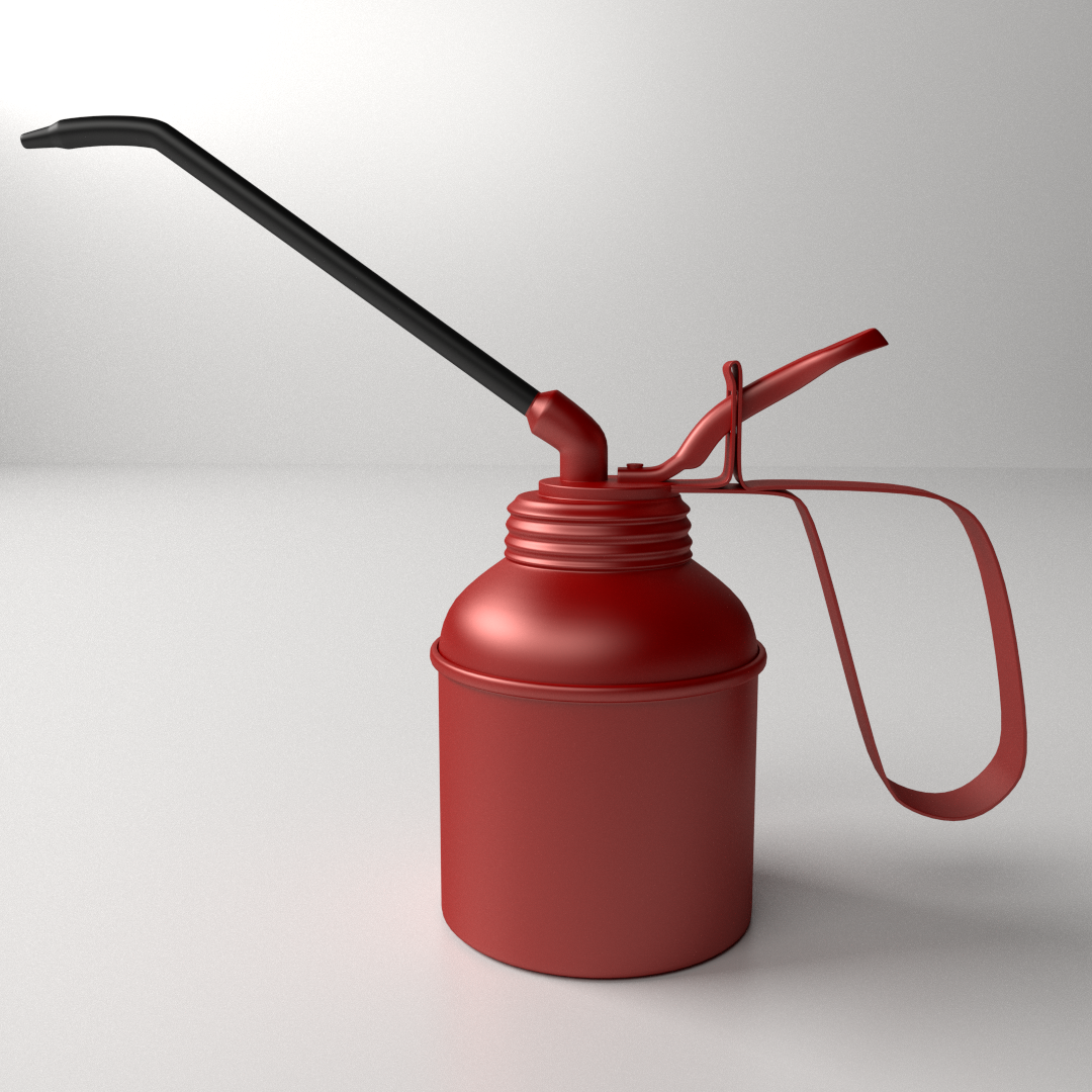 Oil Can 3D Model 3ds Fbx Blend Dae