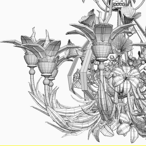 3d model ornate chandelier cgtrader ornate chandelier 3d model max obj 3ds fbx mtl 6 aloadofball Gallery